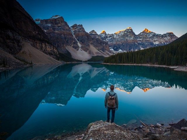 Moraine Lake In Banff Alberta Alberta Canada