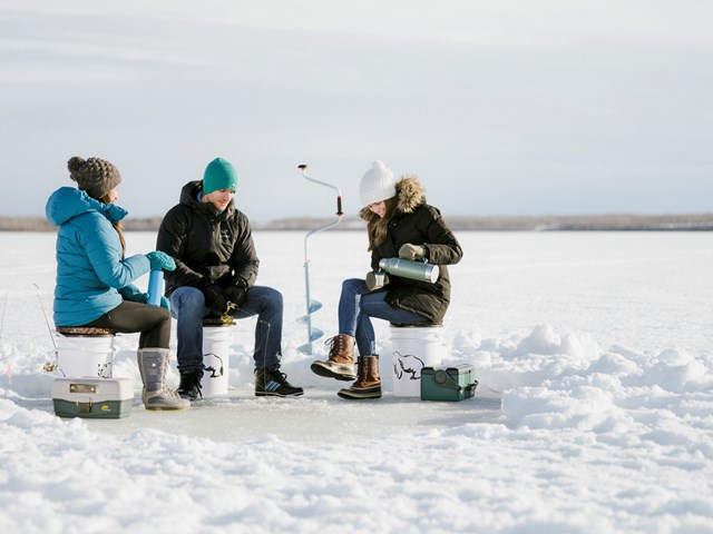 Fire and ice discover comfort ice fishing alberta canada for Ice fishing cabins alberta